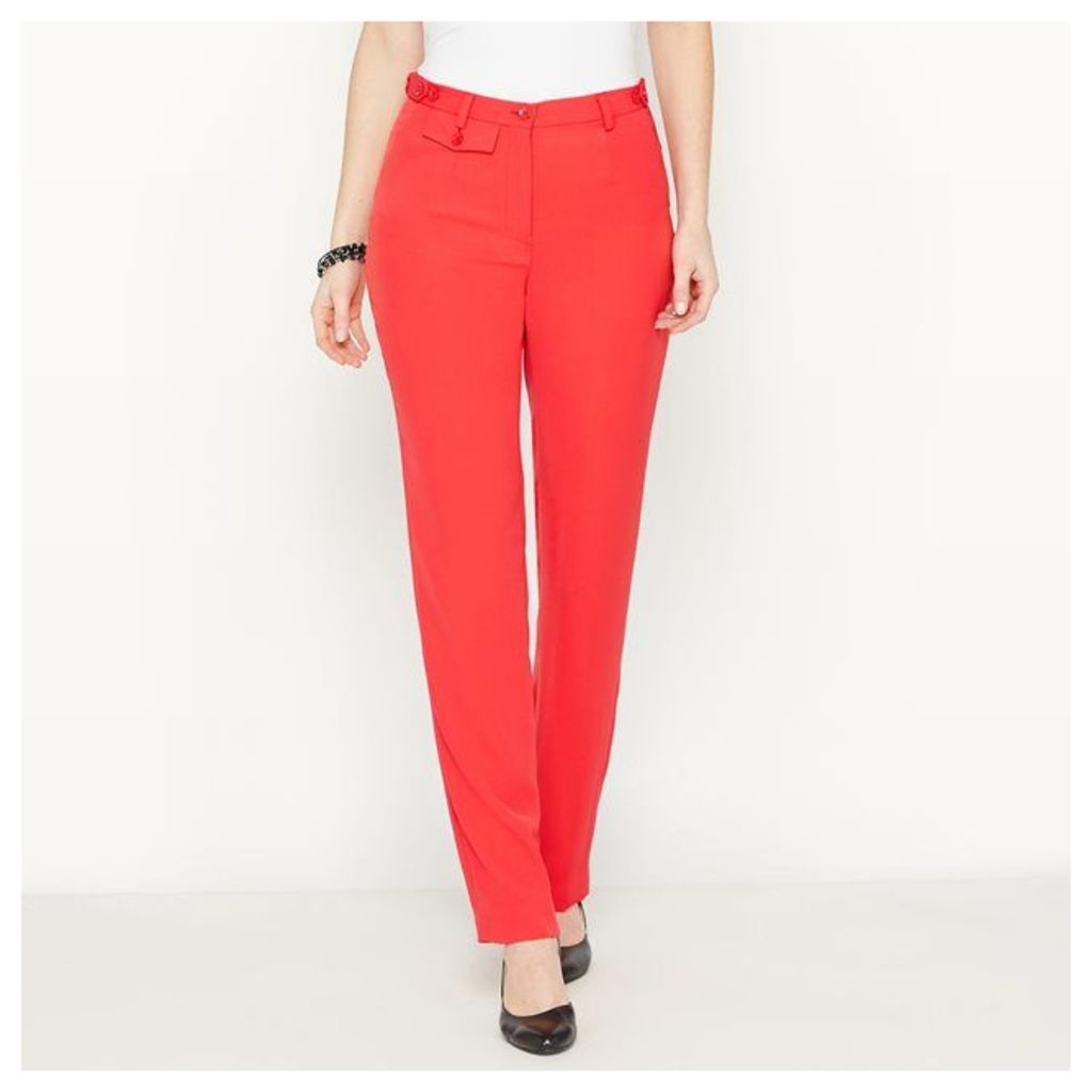 Straight Stretch Twill Trousers