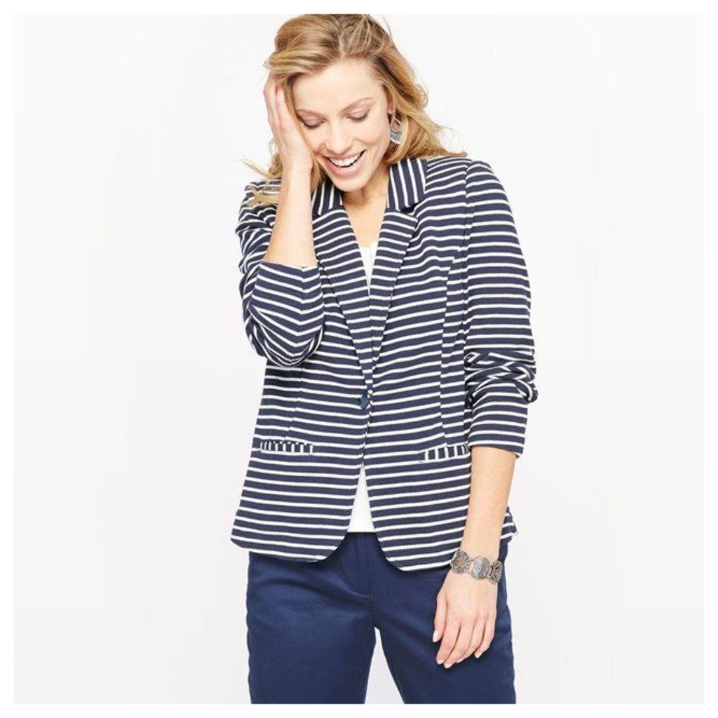 Striped Piqué Jacket