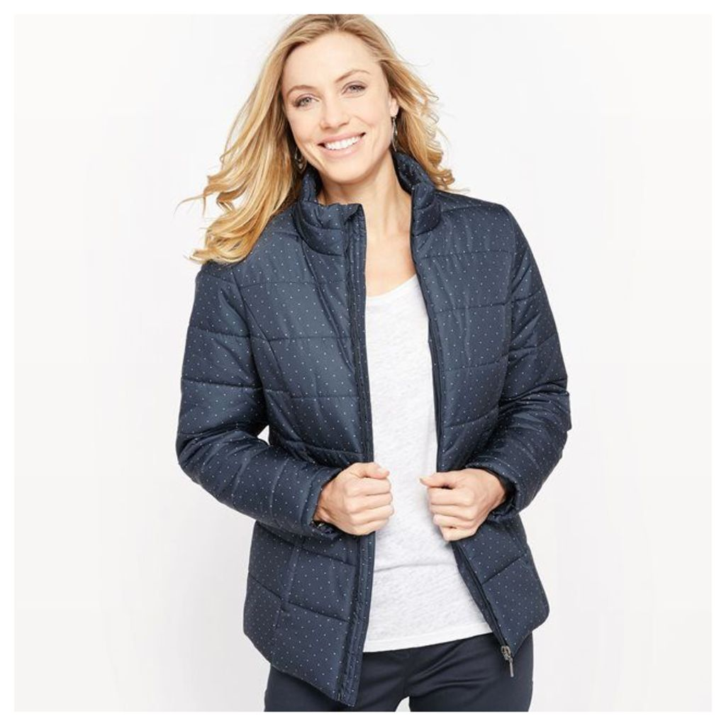 Printed Padded Jacket with Water-Repellent and Stain-Resistant Treatment