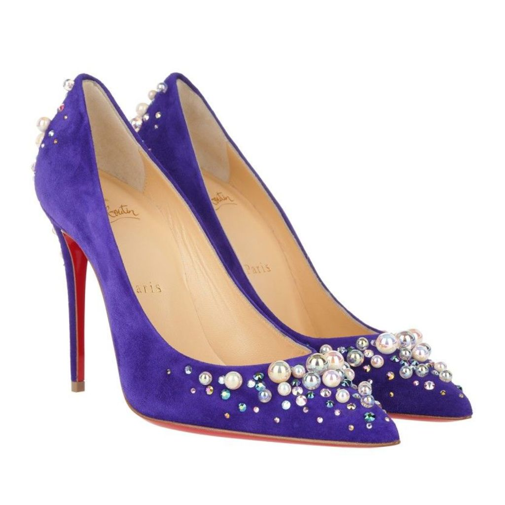 Christian Louboutin Pumps - Candidate 100 Veau Velours Version Purple Pop - in blue - Pumps for ladies