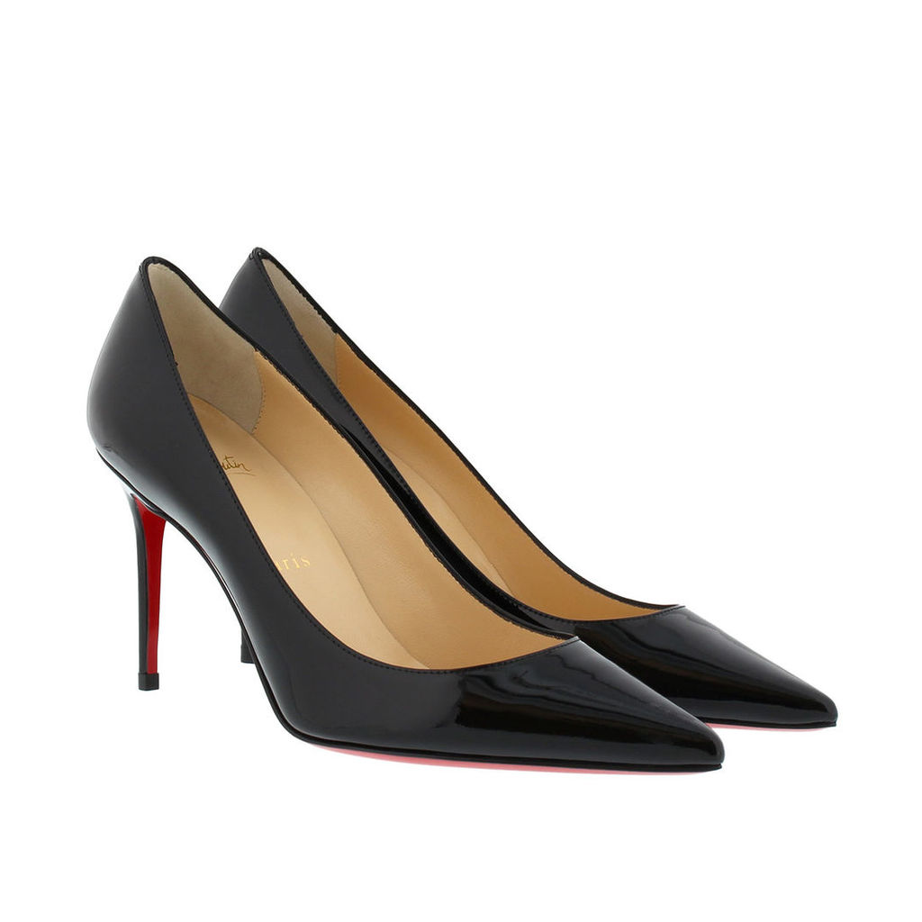 Christian Louboutin Pumps - Decollete Patent Leather Heel Pumps Black - in black - Pumps for ladies