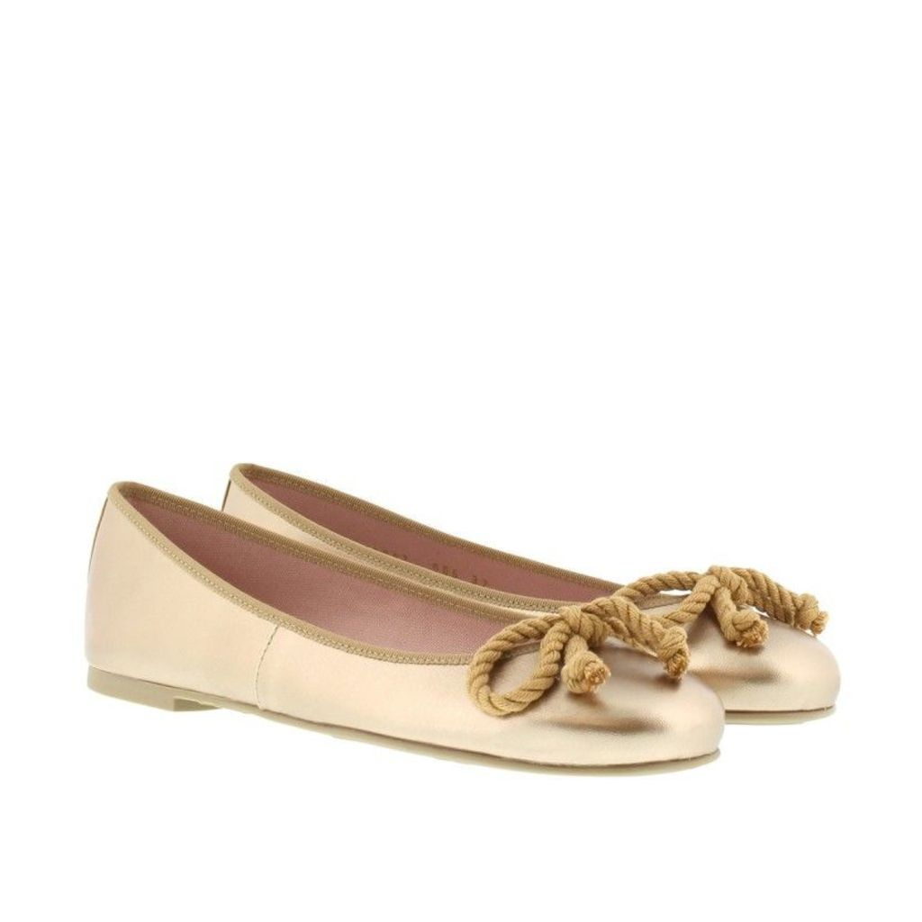 Pretty Ballerinas Ballerinas - Rosario Ballerina Bow Ami Nude Gold - in gold - Ballerinas for ladies