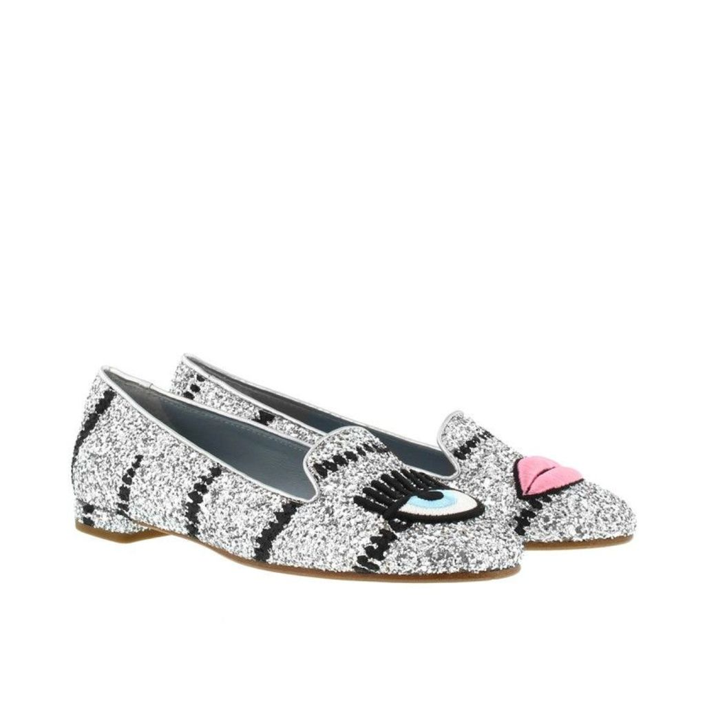 Chiara Ferragni Loafers & Slippers - Flirting Loafers Silver Glitter - in silver - Loafers & Slippers for ladies