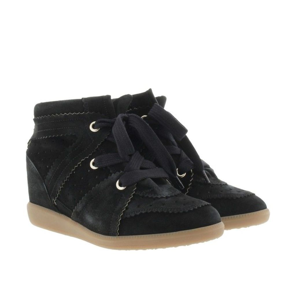 Isabel Marant Étoile Sneakers - Bobby Sneaker Velvet Stainer Basket Faded Black - in black - Sneakers for ladies
