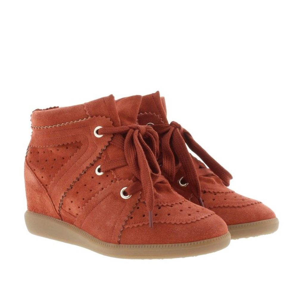 Isabel Marant Étoile Sneakers - Bobby Sneaker Velvet Stainer Basket Faded Red - in red - Sneakers for ladies