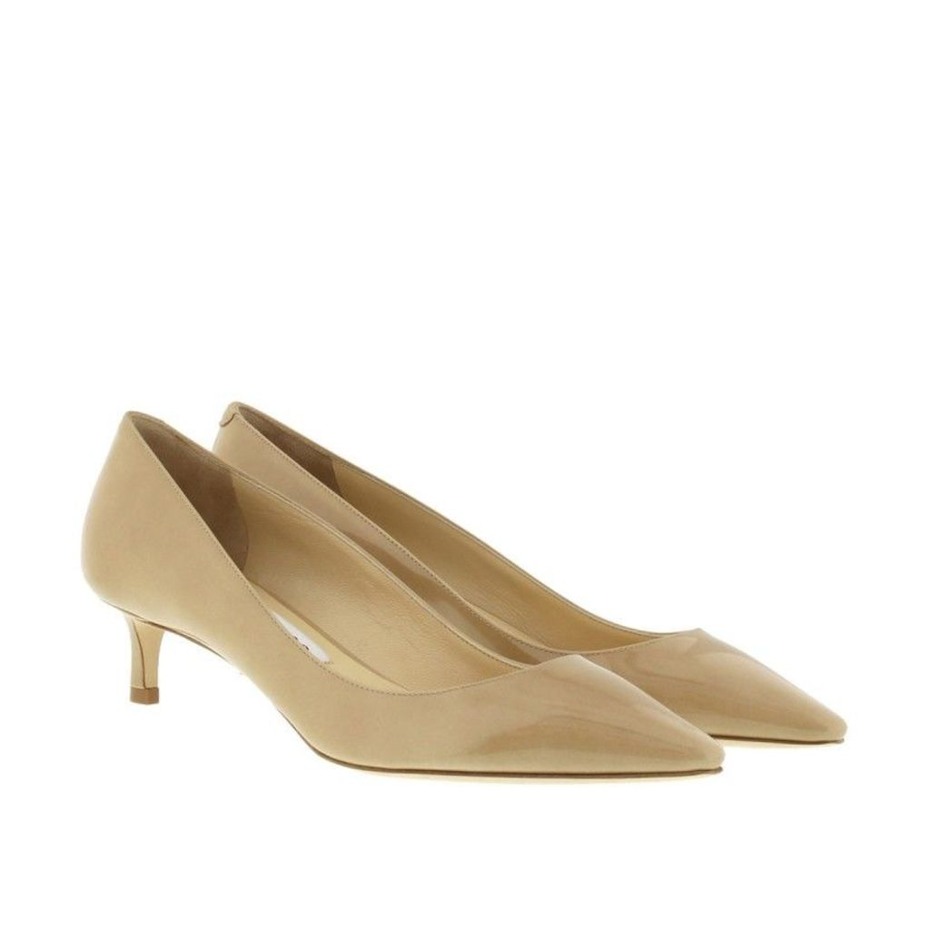 Jimmy Choo Pumps - Romy Patent Kitten Heel Pumps Nude - in beige - Pumps for ladies