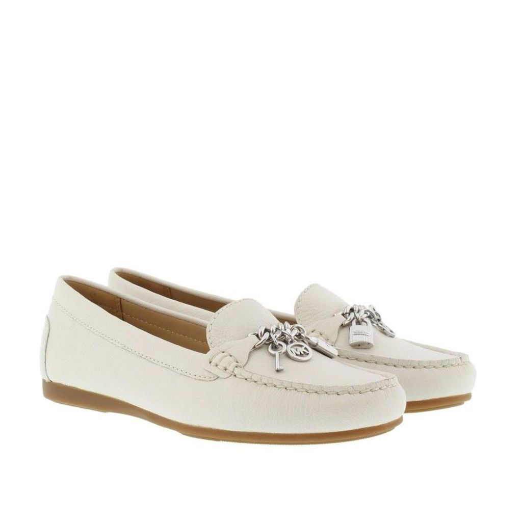 Michael Kors Loafers & Slippers - Suki Leather Moccassin Optic White - in white - Loafers & Slippers for ladies