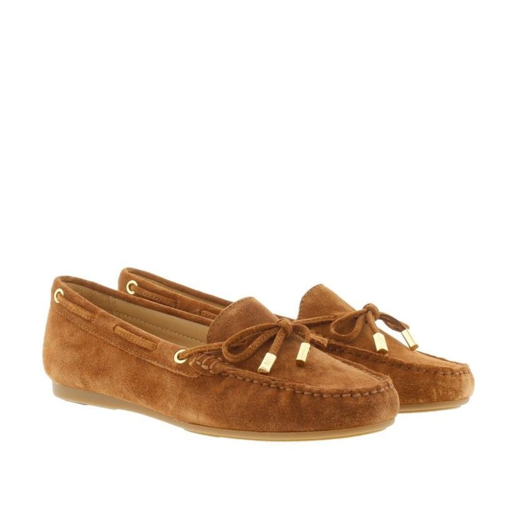 Michael Kors Loafers & Slippers - Sutton Mocassin Suede Luggage - in cognac - Loafers & Slippers for ladies
