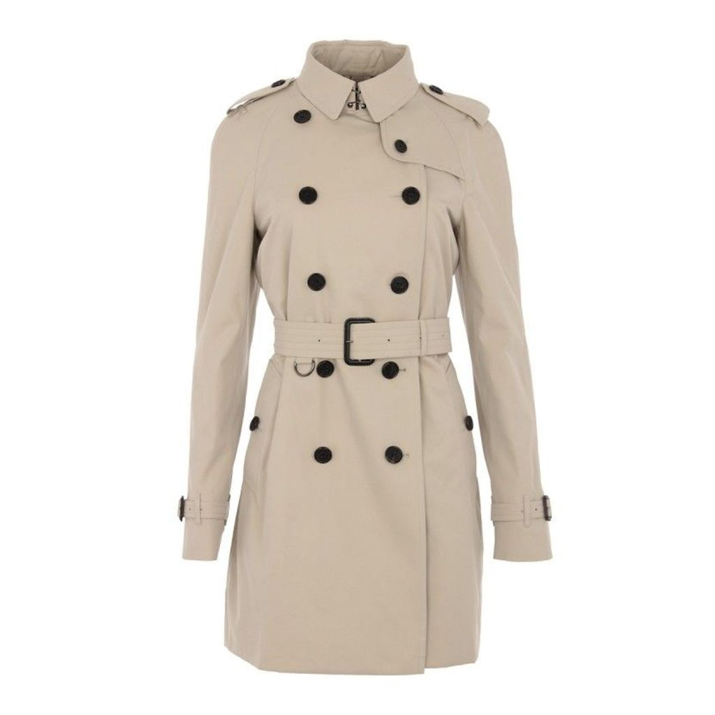 Burberry Coats - Westminster Coat Stone Mid - in beige - Coats for ladies