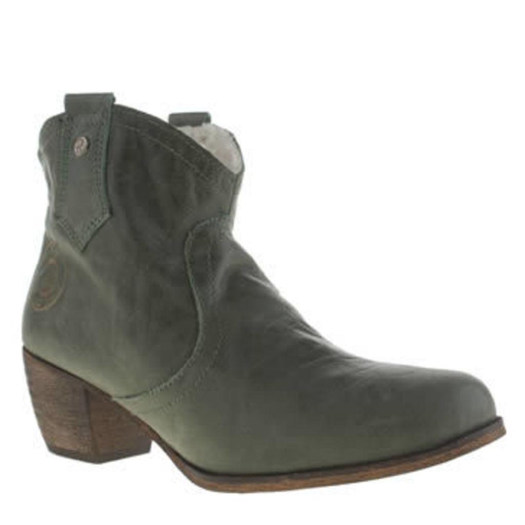 Red Or Dead Dark Green Mountain Fleece Womens Boots
