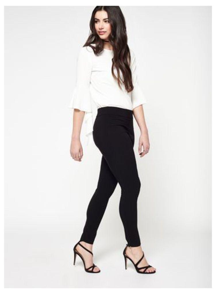 Womens Black Bengaline Skinny Trousers, Black