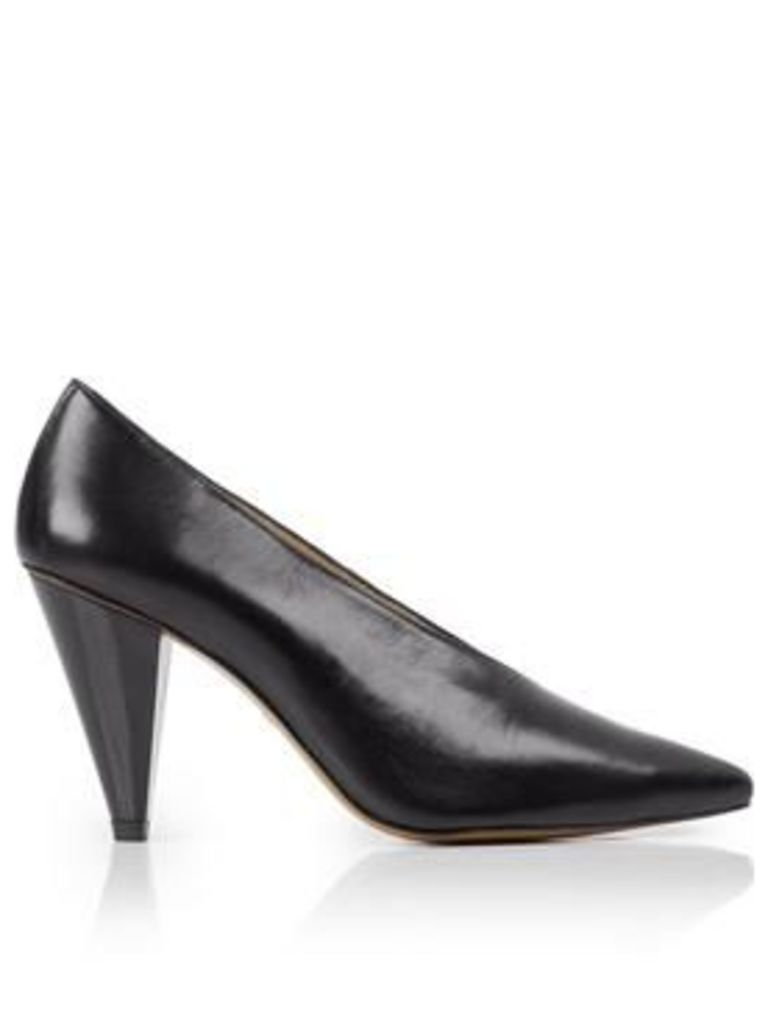 Whistles Soto V Pointed Heeled Shoe - Black