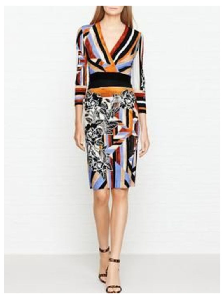 Just Cavalli Stripe And Floral Print Dress - Multicolour