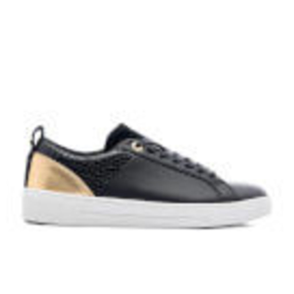 Ted Baker Women's Kulei Leather Cupsole Trainers - Black/Rose Gold - UK 5