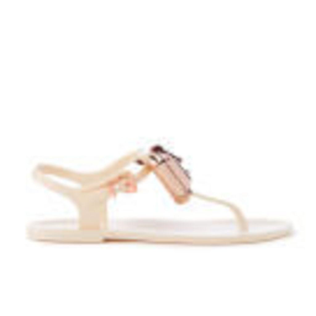 Ted Baker Women's Ainda Ankle Strap Bow Sandals - Cream/Rose Gold - UK 5