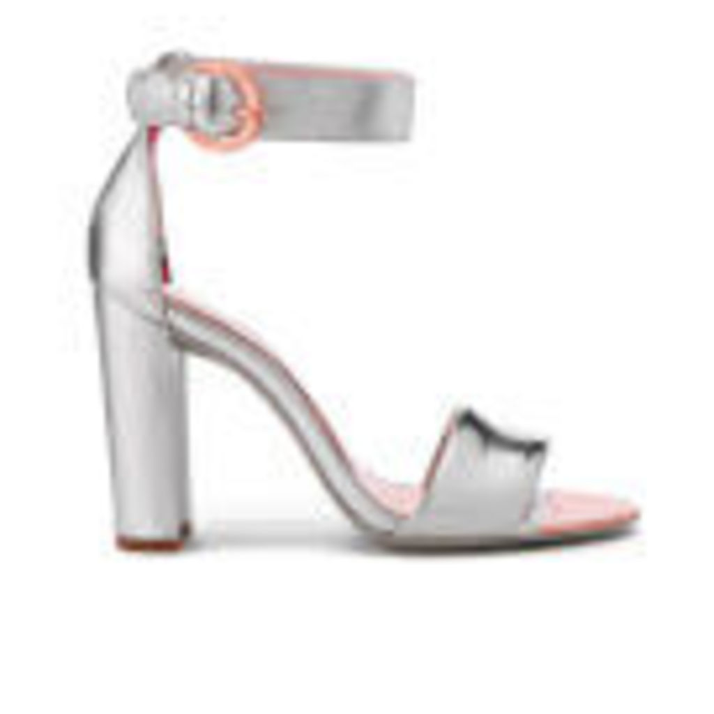Ted Baker Women's Secoa Leather Heeled Sandals - Silver - UK 7