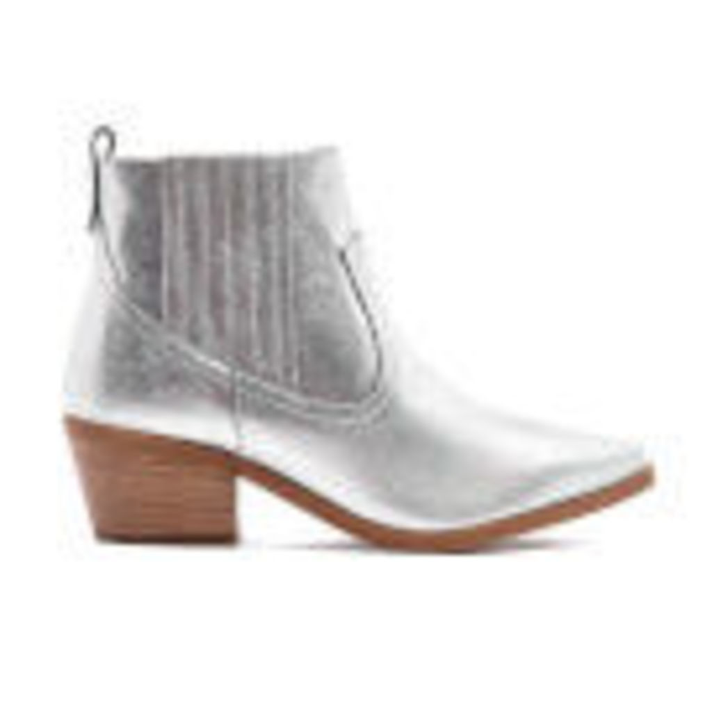 Dune Women's Quiz Leather Heeled Chelsea Boots - Pewter - UK 7