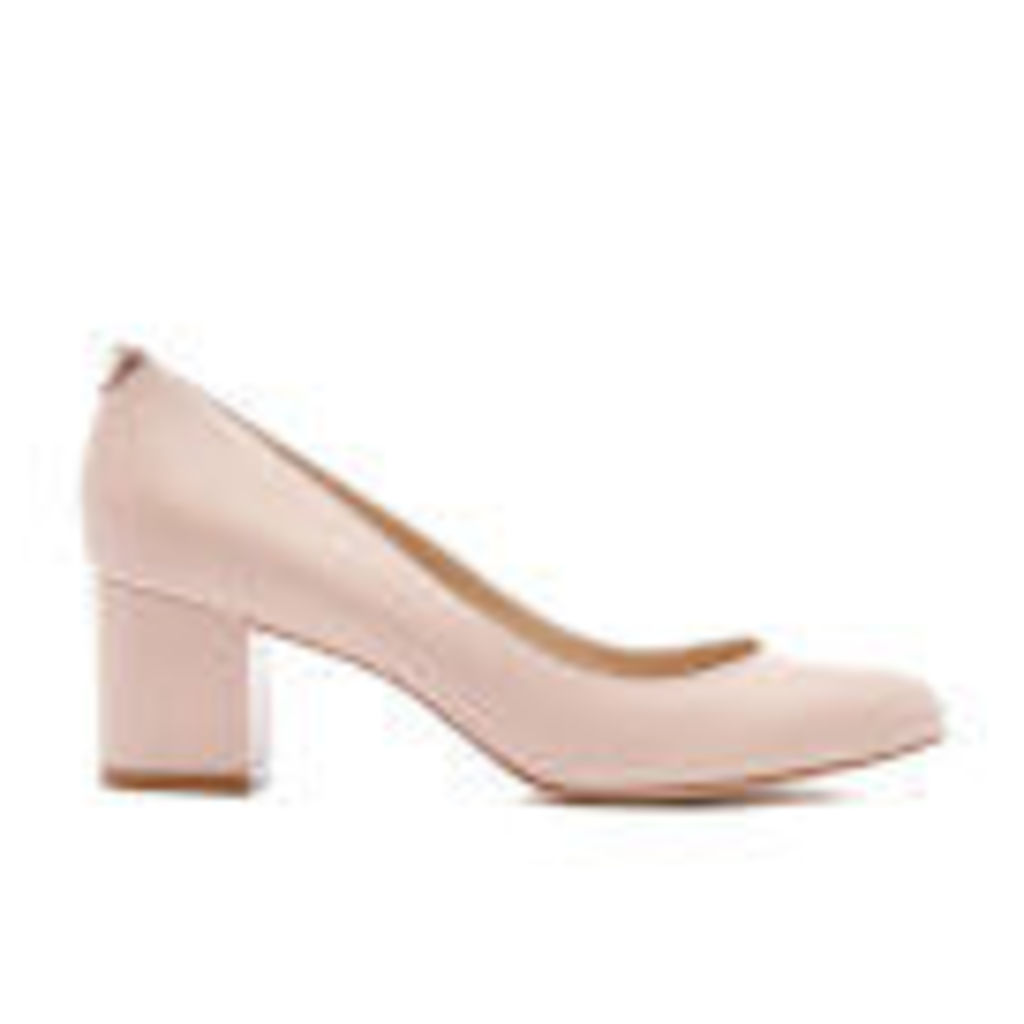 Dune Women's Atlas Leather Mid Heeled Court Shoes - Nude - UK 8