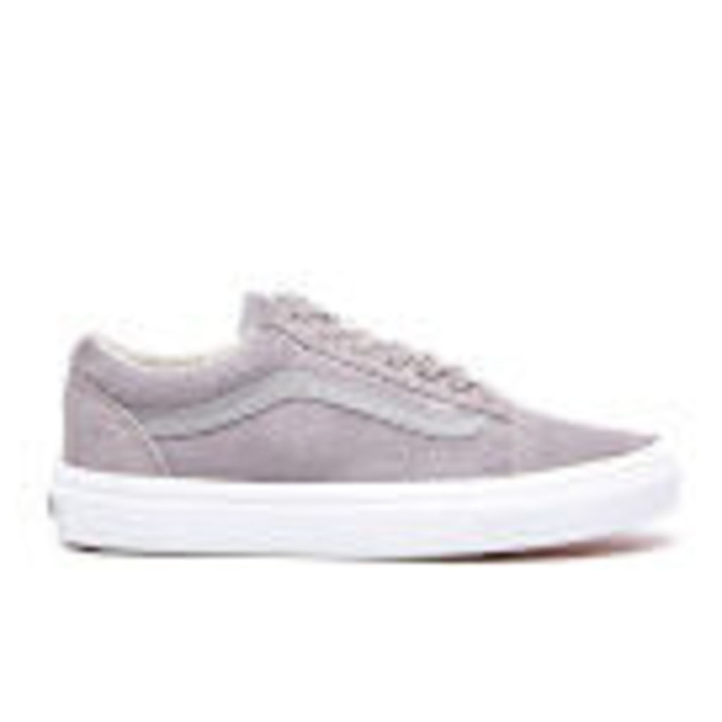 Vans Women's Old Skool Suede/Woven Trainers - Gray/True White - UK 6