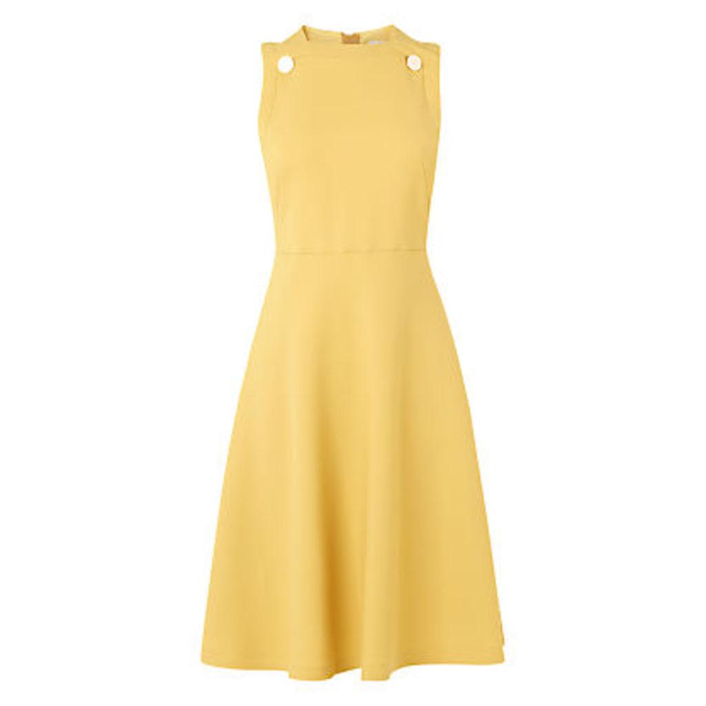 L.K. Bennett Bayna Button Shift Dress, Yellow
