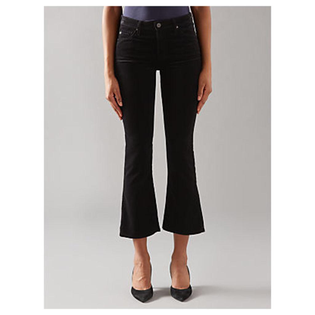 AG The Jodie Crop Bootcut Jeans, Black