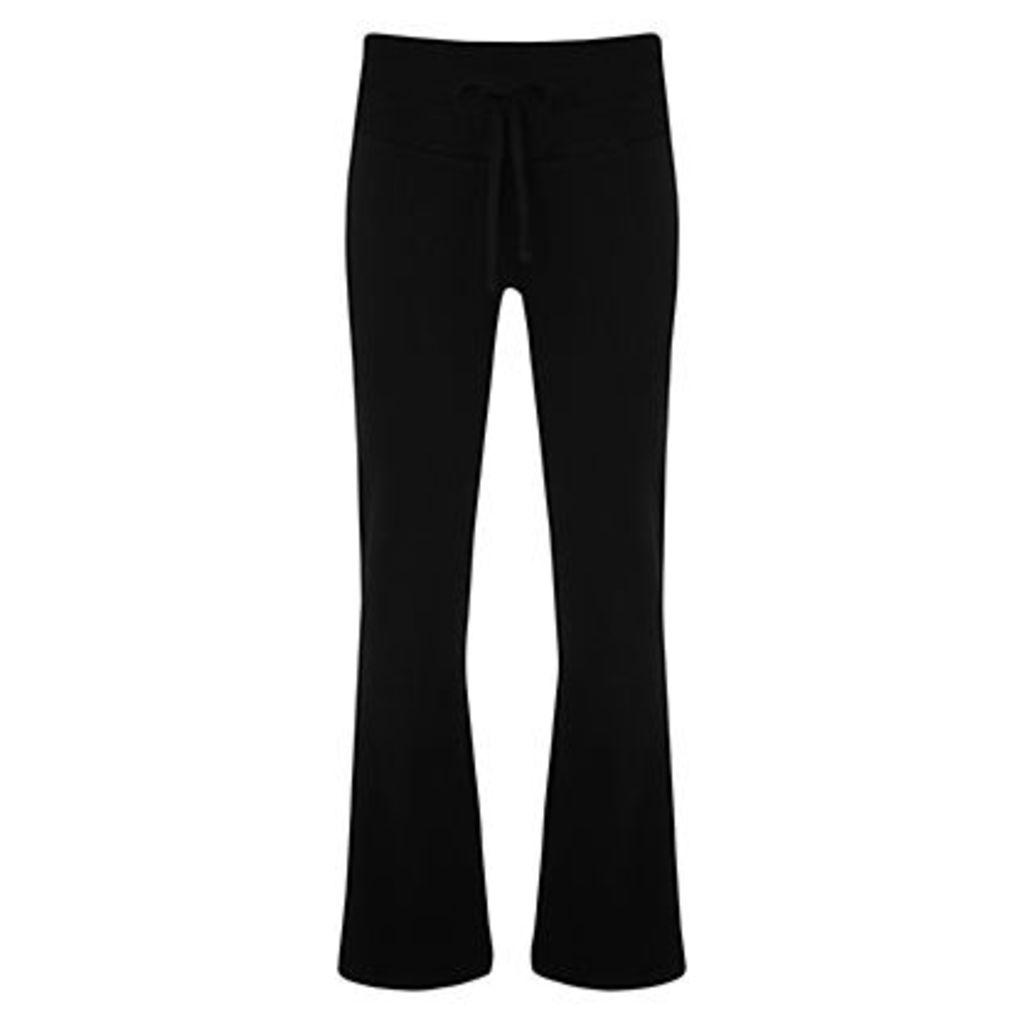 Manuka Relaxed Bootleg Yoga Pants, Black