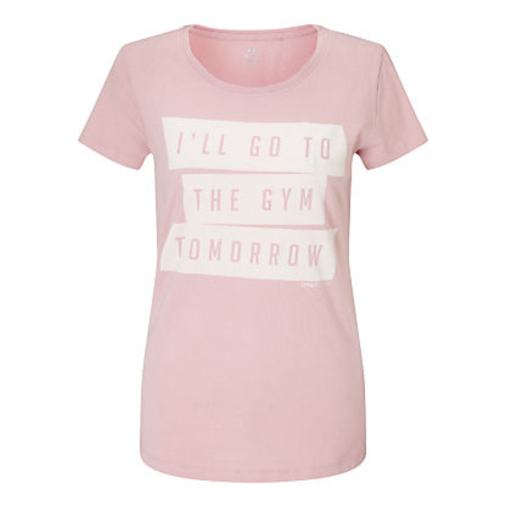 ONLY PLAY Elsie Slogan T-Shirt, Pink
