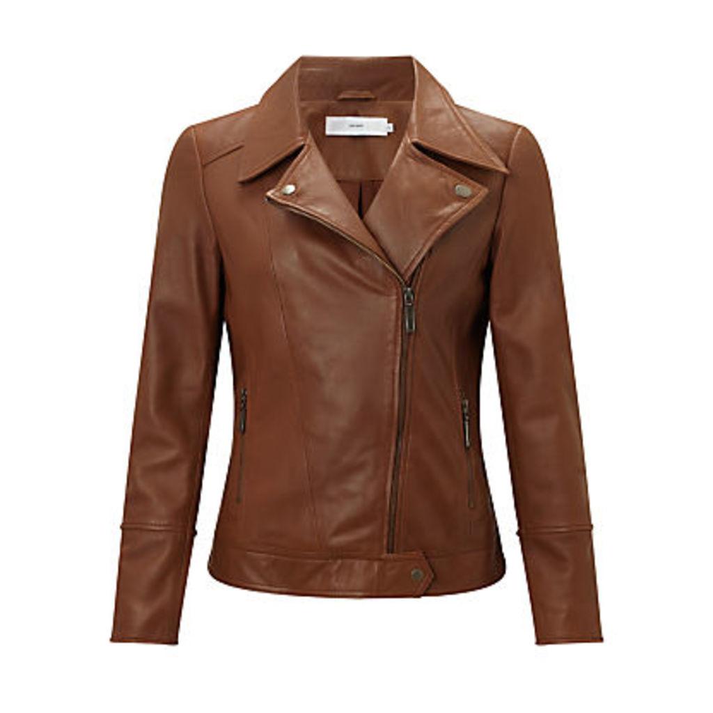 John Lewis Betsy Leather Biker Jacket