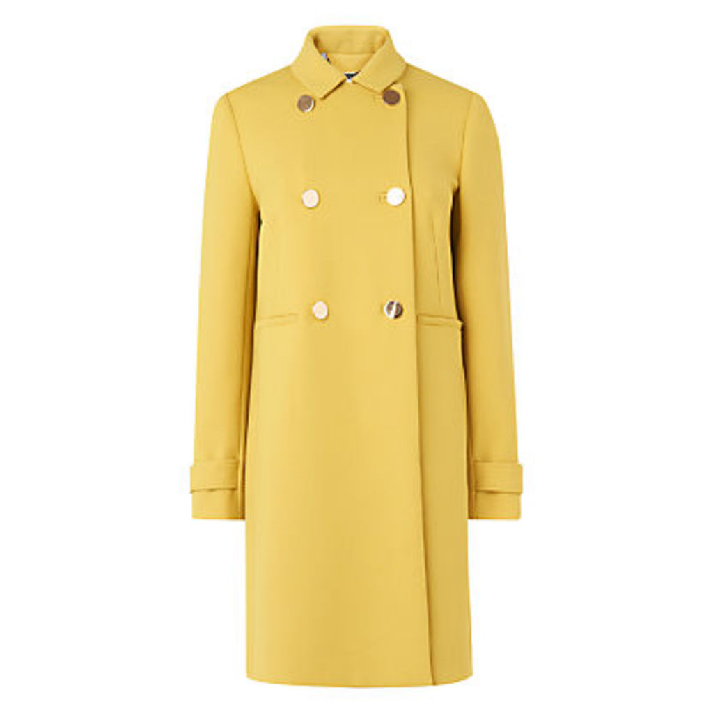 L.K. Bennett Bay Double Breasted Coat, Yellow