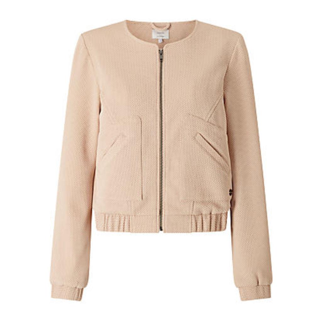 Numph Jarla Textured Bomber Jacket, Pink