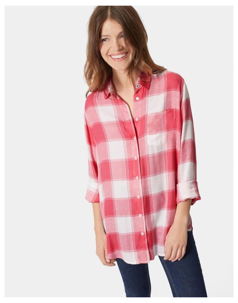 Rose Hip Check Laurel Longline Shirt  Size 6   Joules UK