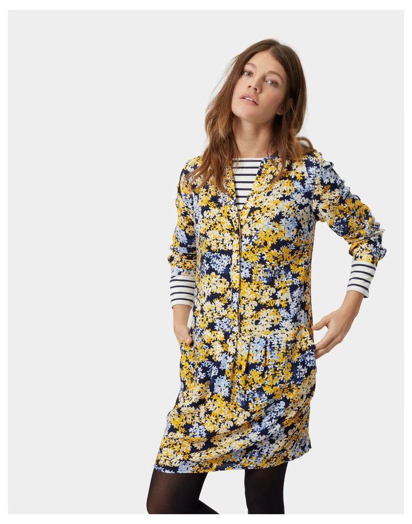 Antique Gold Ditsy Rosalie Dress  Size 10   Joules UK