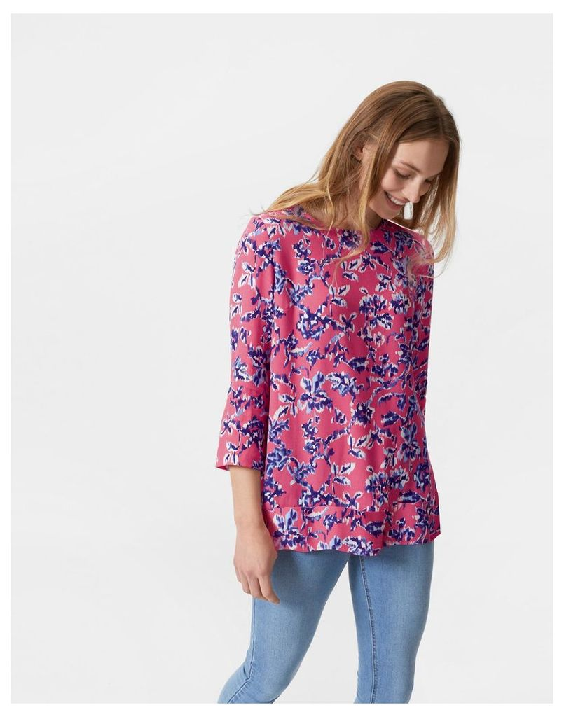 Rosehip Ikat Floral Leah Shell Top  Size 14   Joules UK