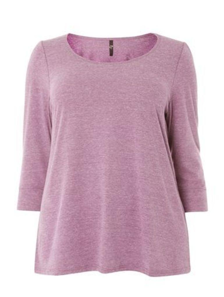 Purple 3/4 Sleeve Top, Purple