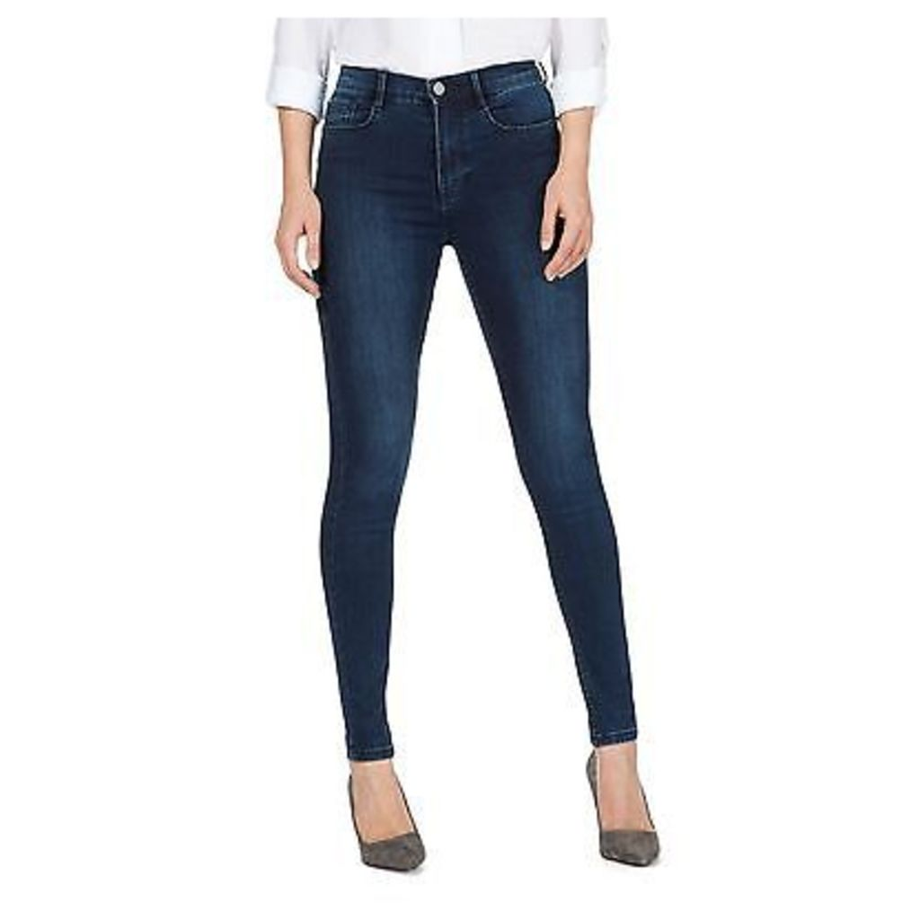 J By Jasper Conran Womens Blue 'Sculpt And Lift' High-Waisted Skinny Jeans