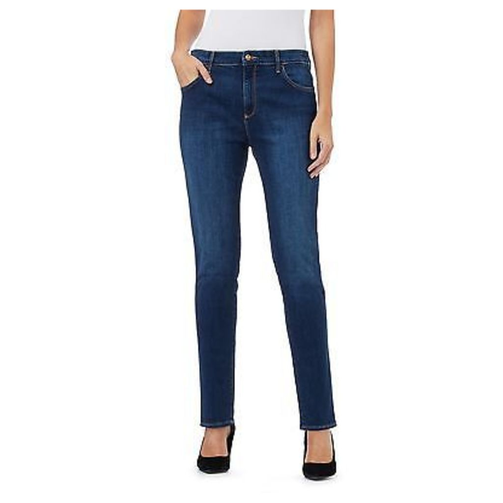 Wrangler Womens Mid Blue Boyfriend Jeans From Debenhams