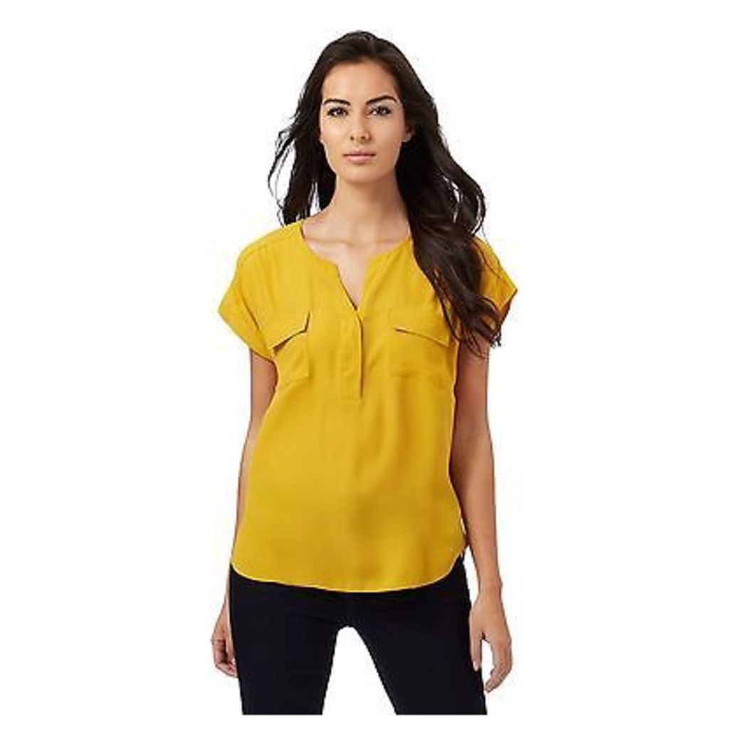 Principles Petite By Ben De Lisi Womens Dark Yellow Utility Shirt From Debenhams