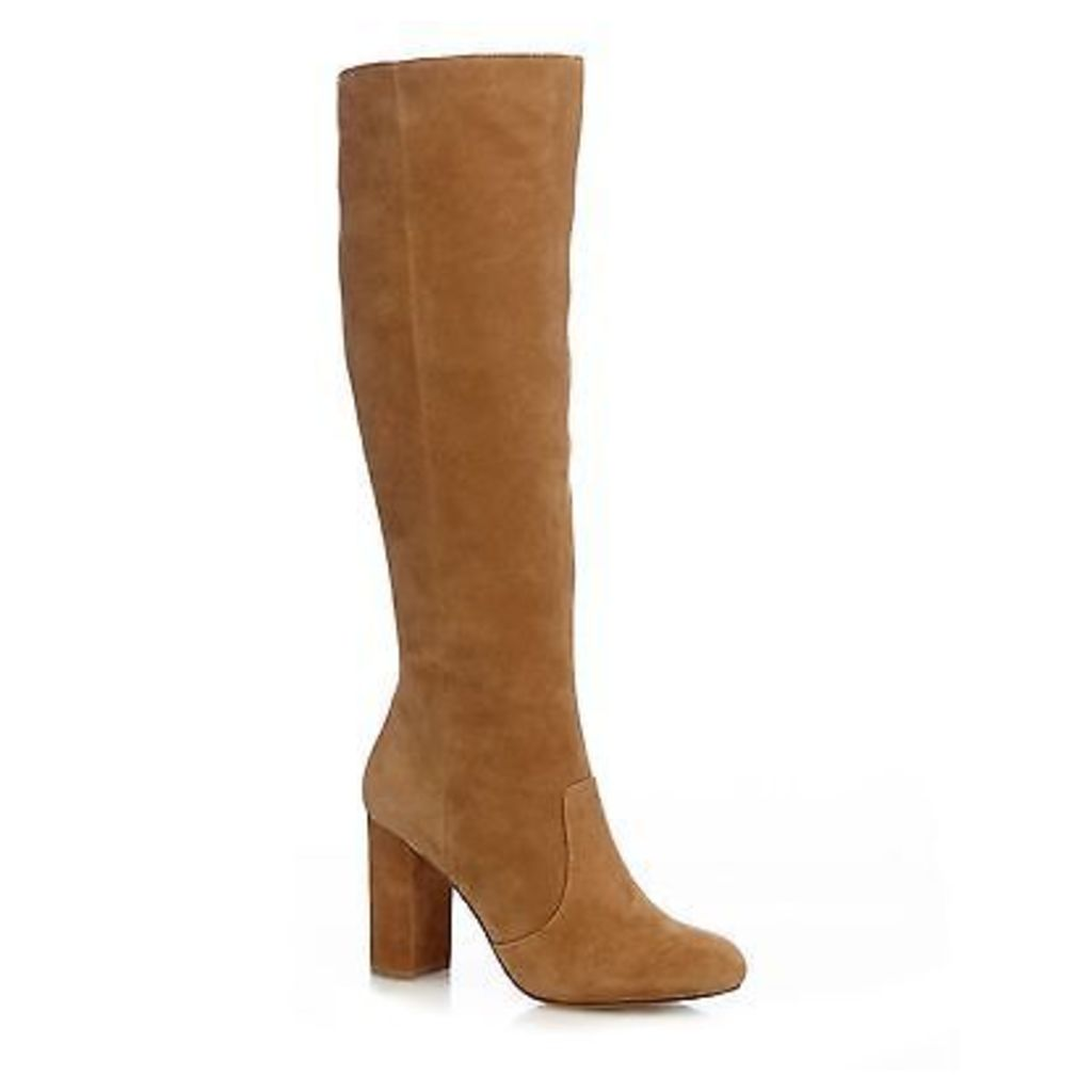 J By Jasper Conran Womens Tan 'Joda'' Suede Block Heel Boots From Debenhams