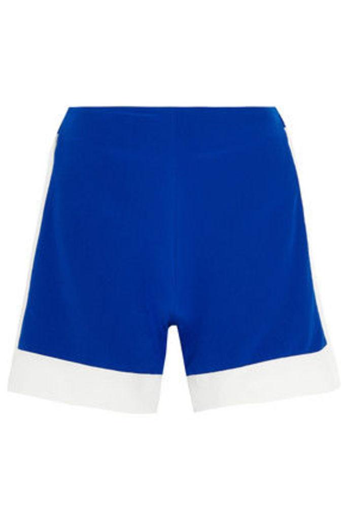 Zeus+Dione - Leon Two-tone Silk Crepe De Chine Shorts - Royal blue