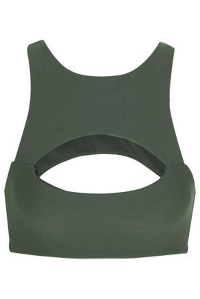 Mikoh - Marrakesh Cutout Bikini Top - Army green