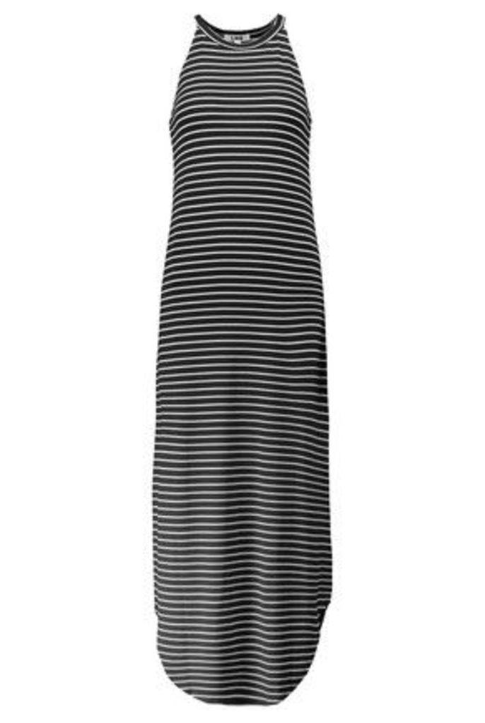 LNA - Leigh Striped Stretch-jersey Maxi Dress - Black