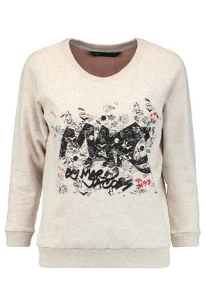 Marc by Marc Jacobs - Printed Cotton-jersey Sweatshirt - Light gray