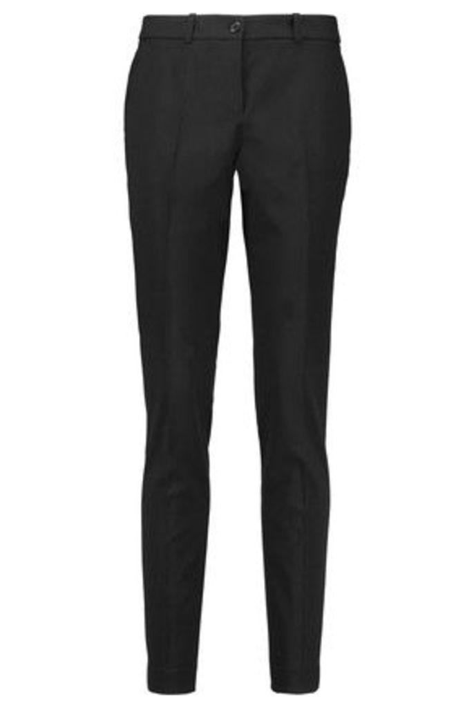 Michael Kors Collection - Samantha Wool-blend Twill Skinny Pants - Black