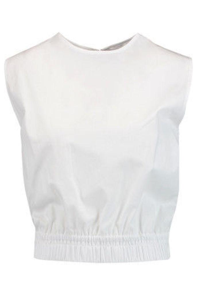 Carven - Cotton-poplin Top - White