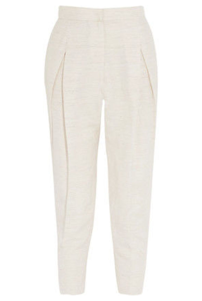 Brunello Cucinelli - Woven Tapered Pants - Beige
