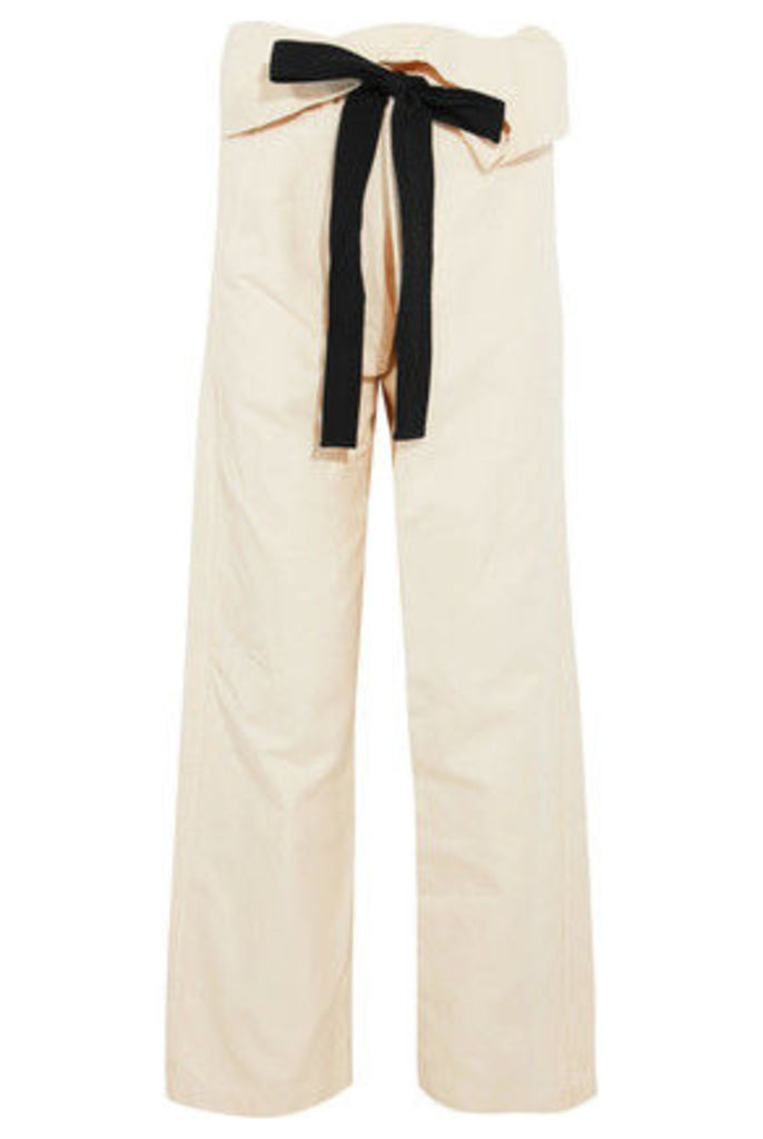 Brunello Cucinelli - Cotton And Linen-blend Straight-leg Pants - Cream