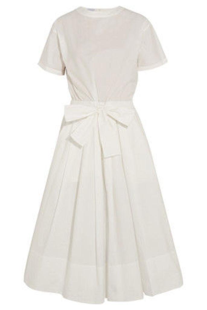 Brunello Cucinelli - Cotton-blend Poplin Midi Dress - White