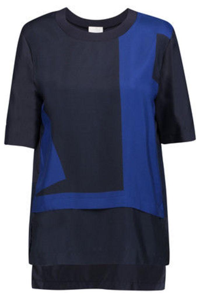DKNY - Layered Silk Top - Midnight blue