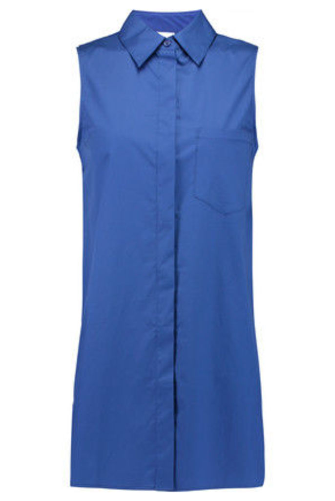 DKNY - Layered Cotton-blend Top - Bright blue