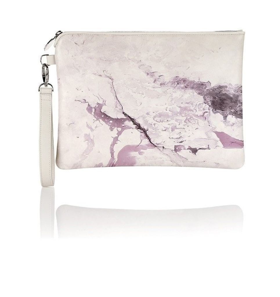 Marble Print Oversized Clutch Bag
